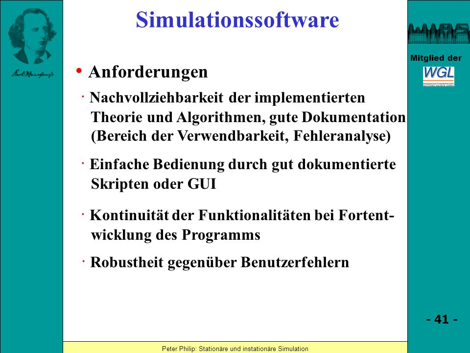 Simulationssoftware • Anforderungen