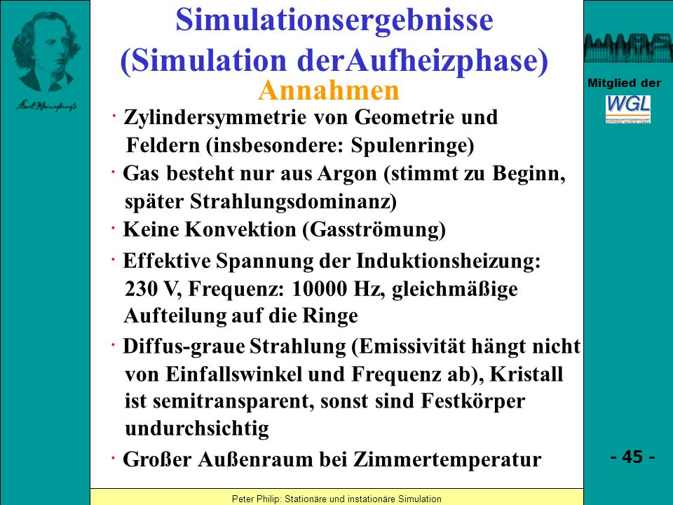 Simulationsergebnisse (Simulation derAufheizphase)