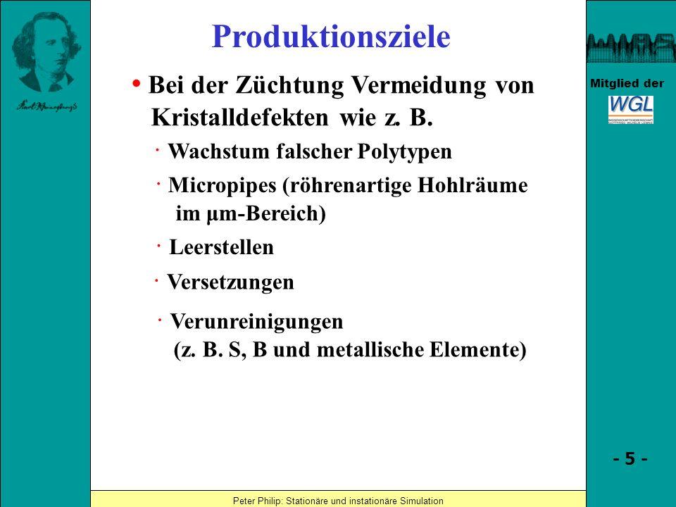 Produktionsziele • Bei der Züchtung Vermeidung von