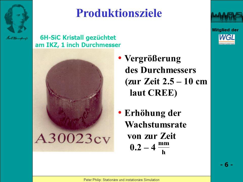 6H-SiC Kristall gezüchtet am IKZ, 1 inch Durchmesser