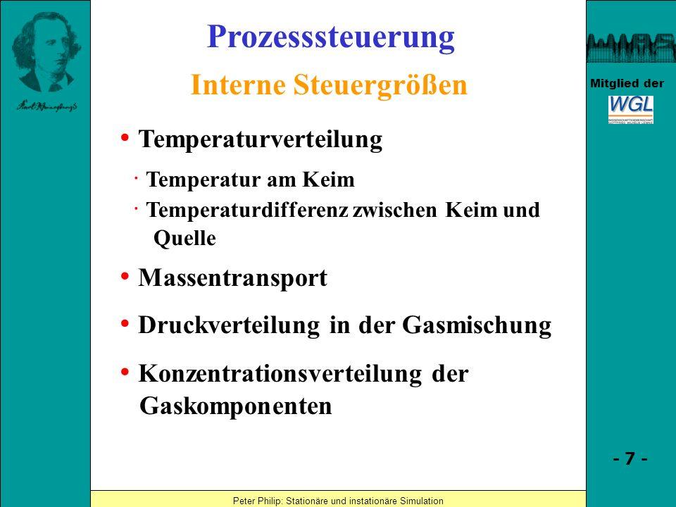 Prozesssteuerung Interne Steuergrößen • Temperaturverteilung