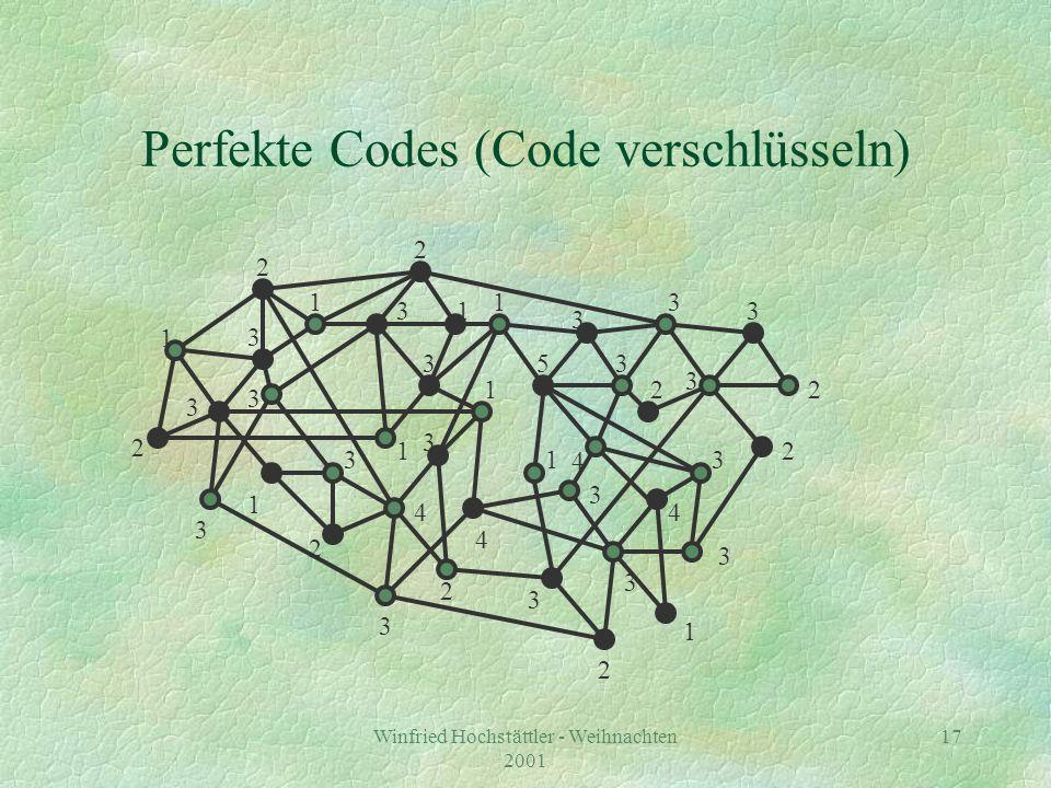 Perfekte Codes (Code verschlüsseln)