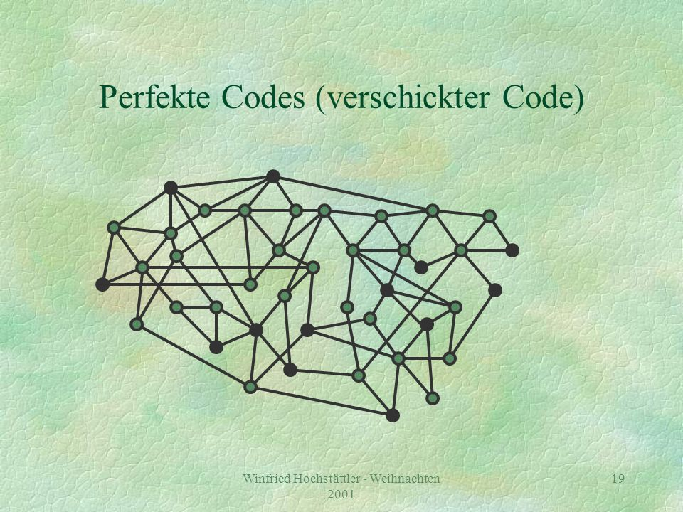 Perfekte Codes (verschickter Code)
