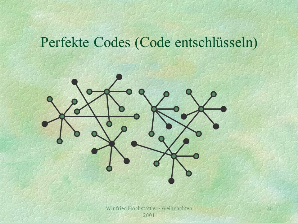 Perfekte Codes (Code entschlüsseln)