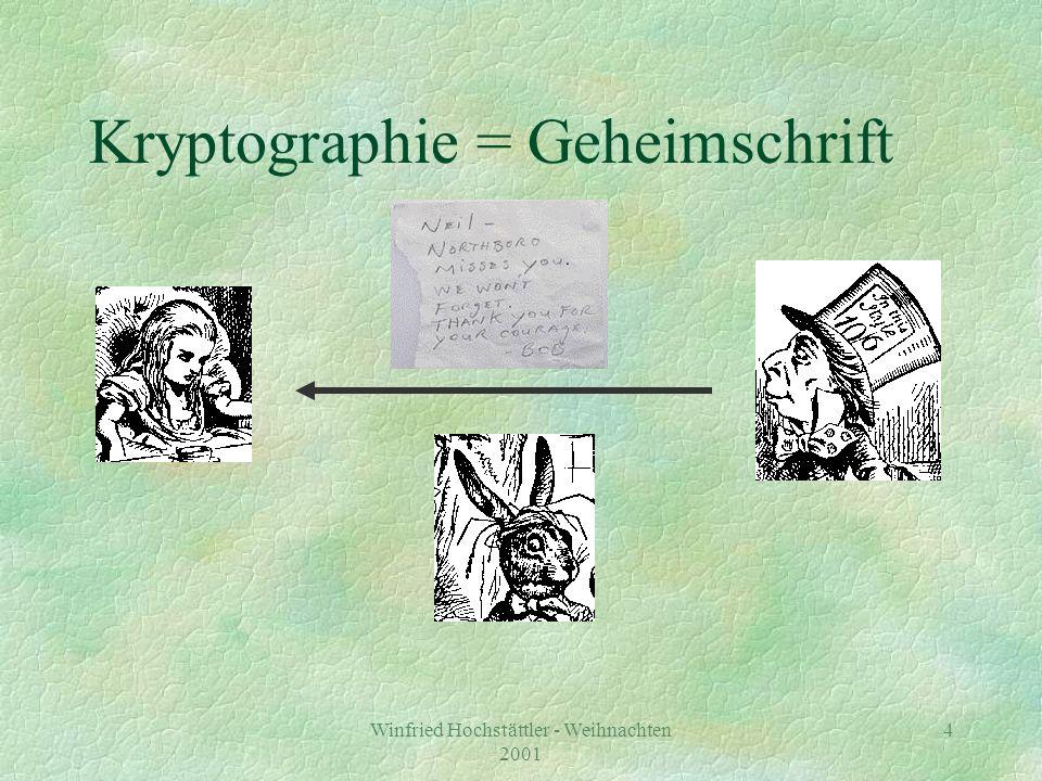 Kryptographie = Geheimschrift