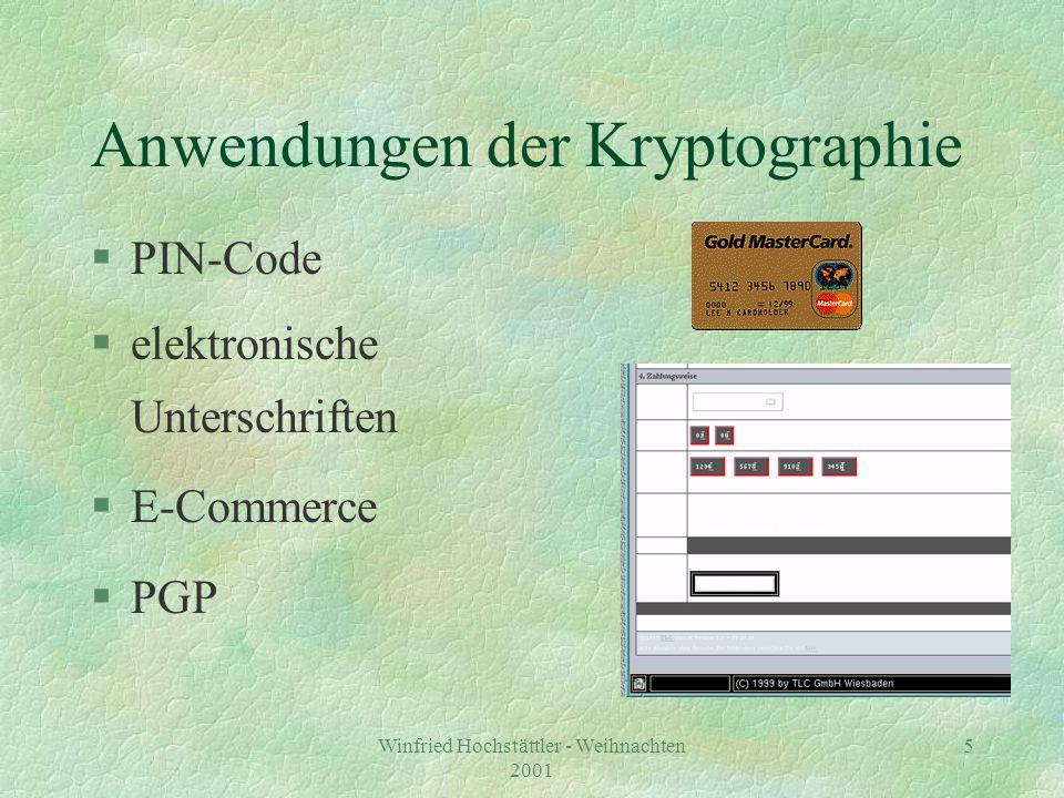 Anwendungen der Kryptographie