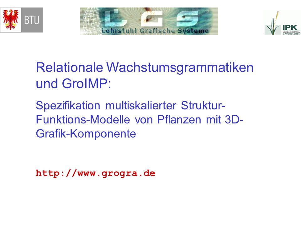 Relationale Wachstumsgrammatiken und GroIMP: