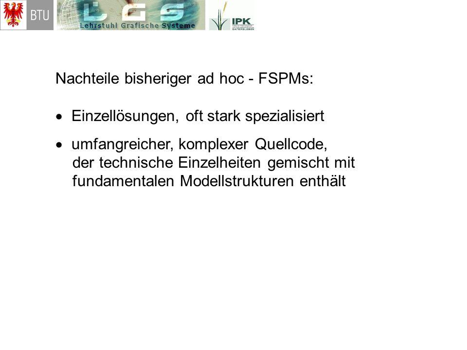 Nachteile bisheriger ad hoc - FSPMs: