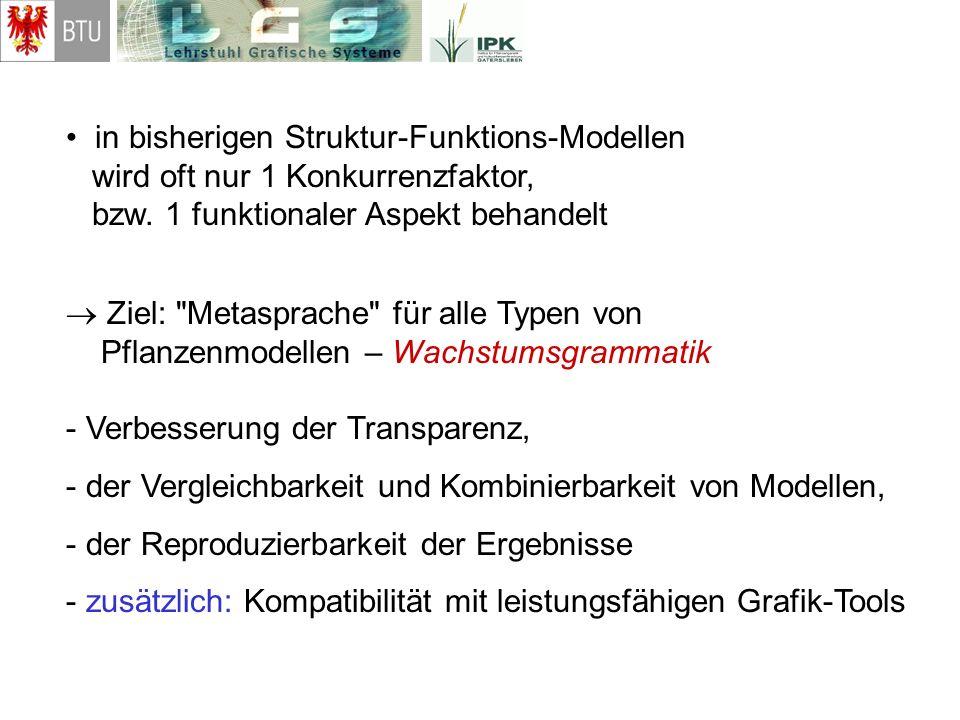 • in bisherigen Struktur-Funktions-Modellen