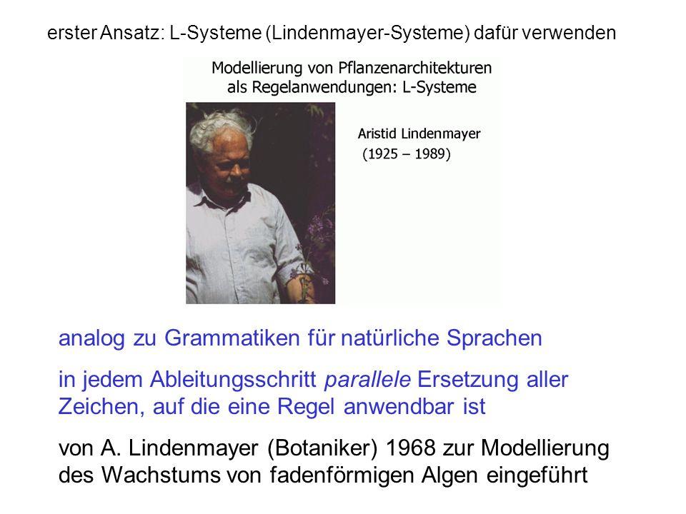analog zu Grammatiken für natürliche Sprachen