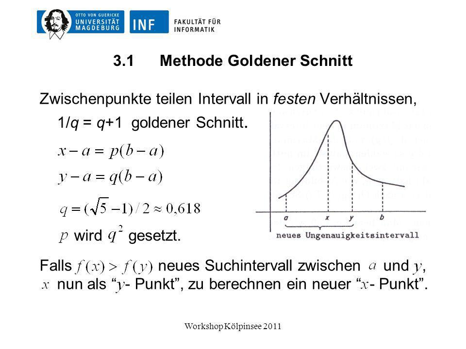 3.1 Methode Goldener Schnitt