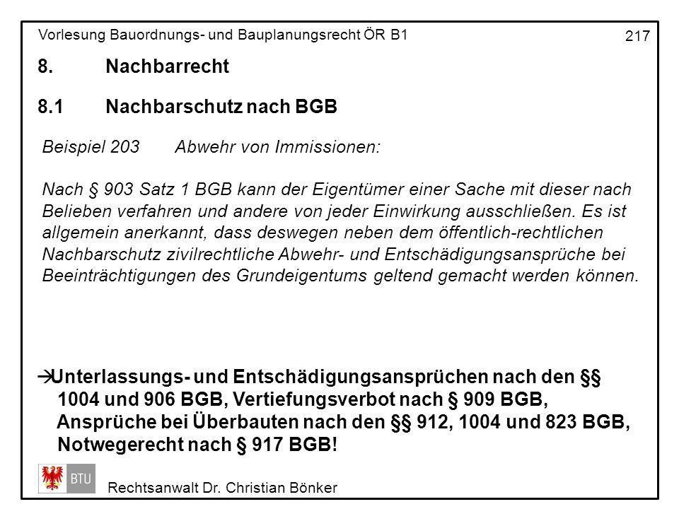 8.1 Nachbarschutz nach BGB