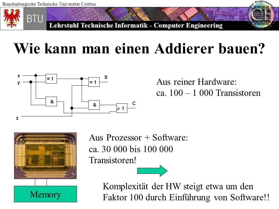 Wie kann man einen Addierer bauen