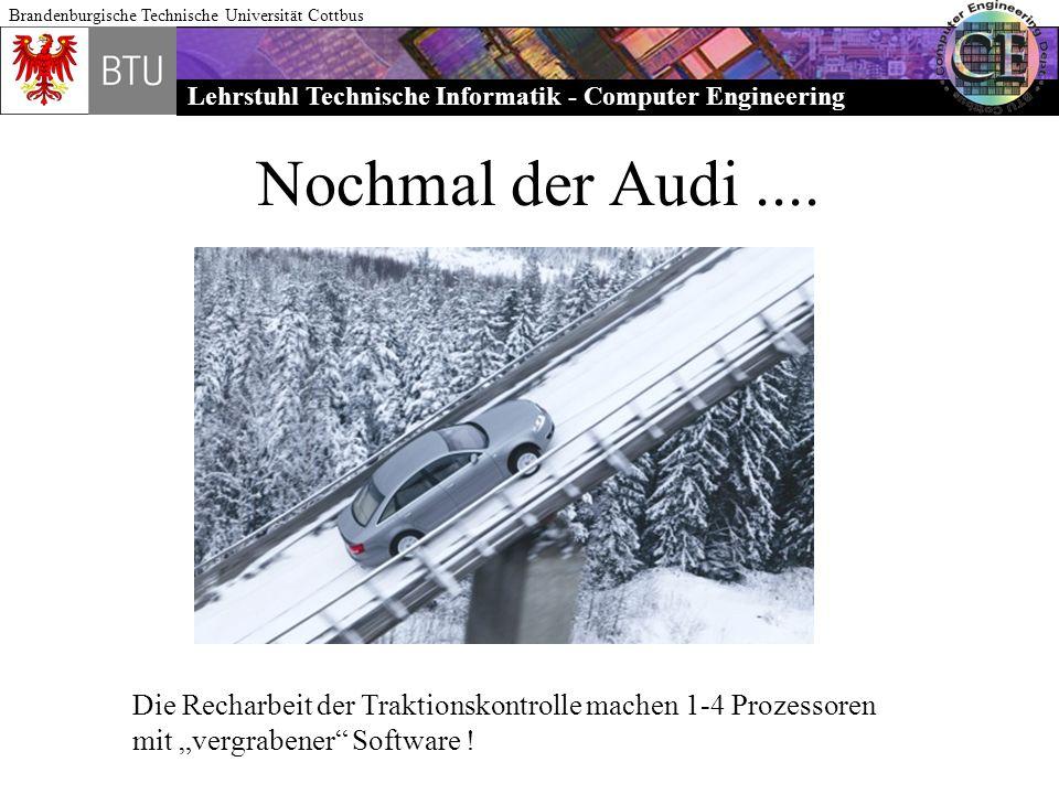 Nochmal der Audi .... Die Recharbeit der Traktionskontrolle machen 1-4 Prozessoren.