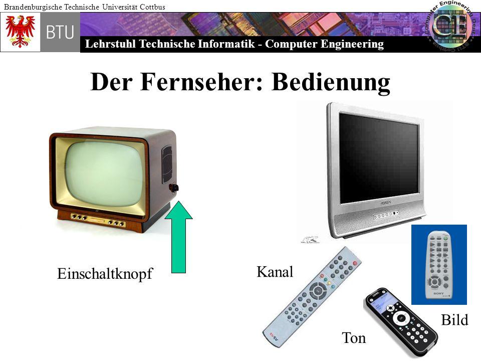 Der Fernseher: Bedienung