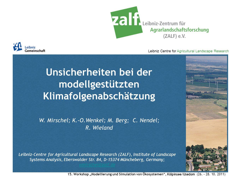 Unsicherheiten bei der modellgestützten Klimafolgenabschätzung