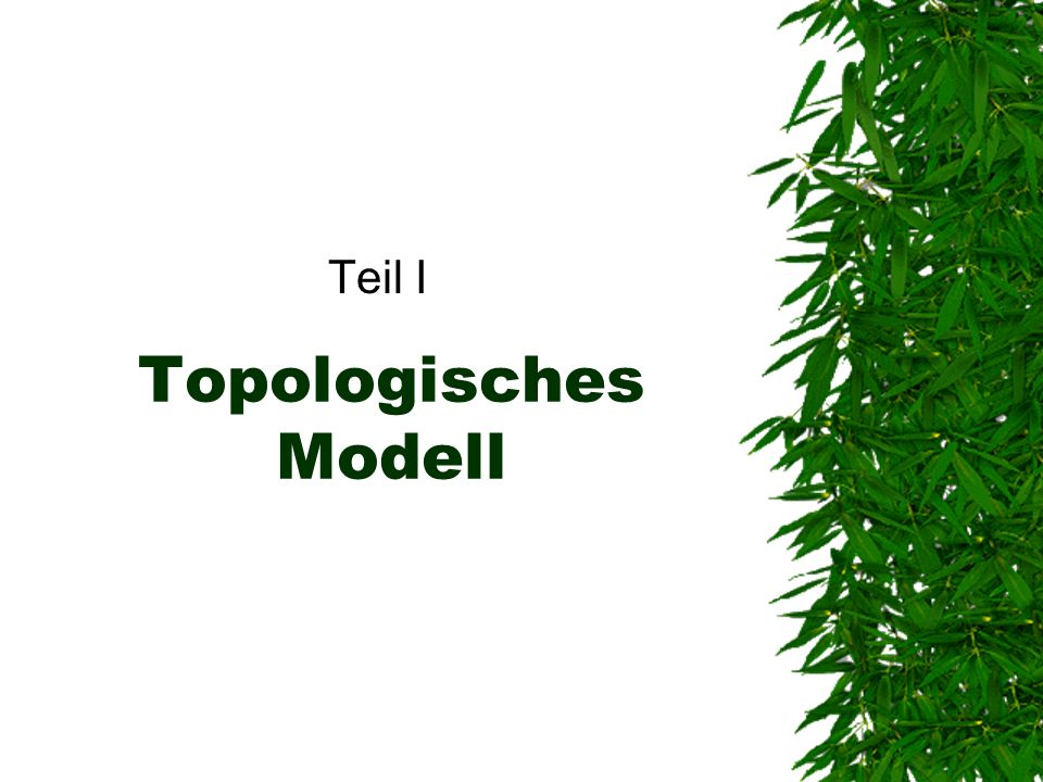 Teil I Topologisches Modell