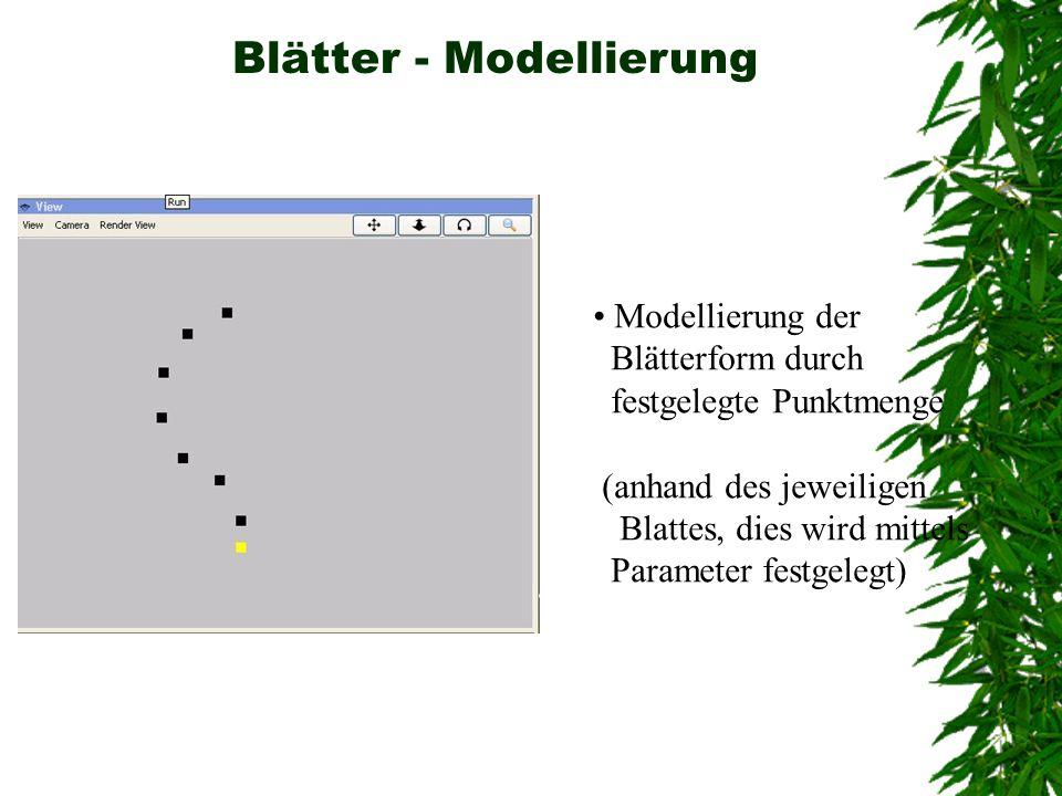 Blätter - Modellierung