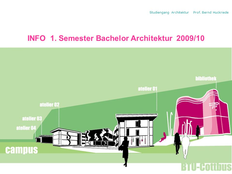 INFO 1. Semester Bachelor Architektur 2009/10
