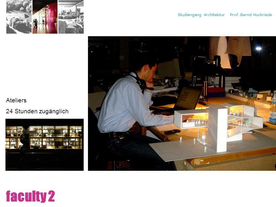 Campus Ateliers 24 Stunden zugänglich faculty 2
