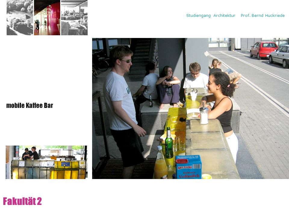 Campus Fakultät 2 mobile Kaffee Bar