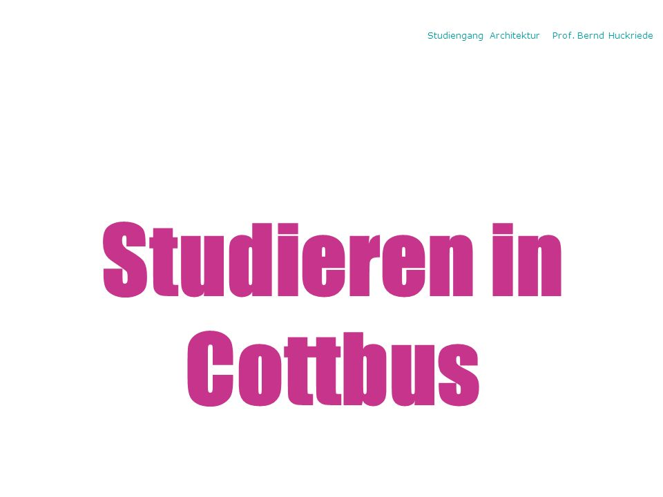 Titelbild studies Studieren in Cottbus