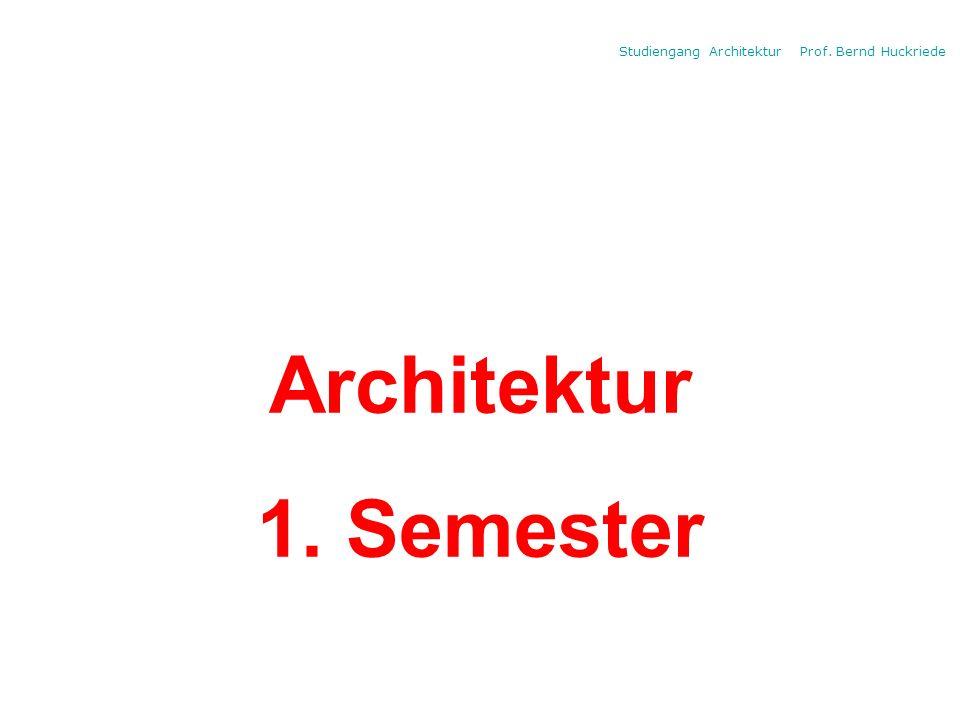 Architektur 1. Semester