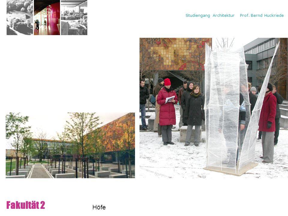 Campus Fakultät 2 Höfe Freiräume zwischen den Lehrgebäude: Platz für