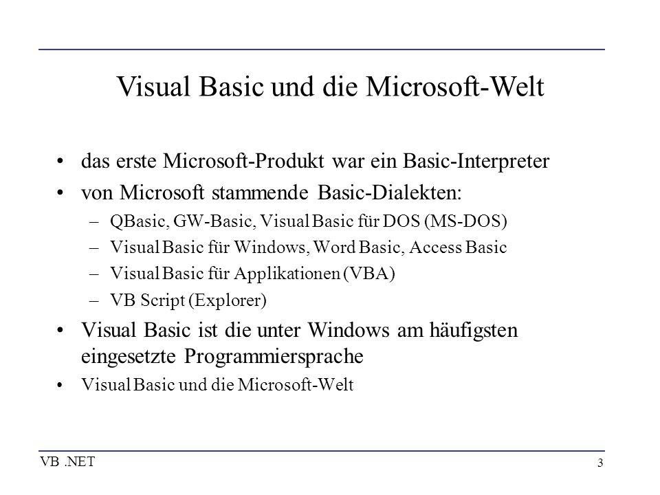 Visual Basic und die Microsoft-Welt