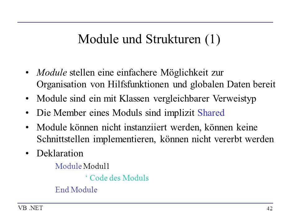Module und Strukturen (1)