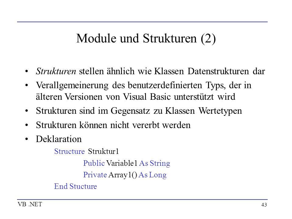 Module und Strukturen (2)