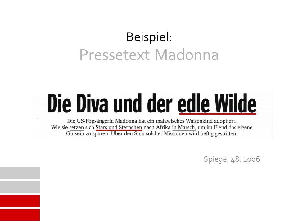 Beispiel: Pressetext Madonna