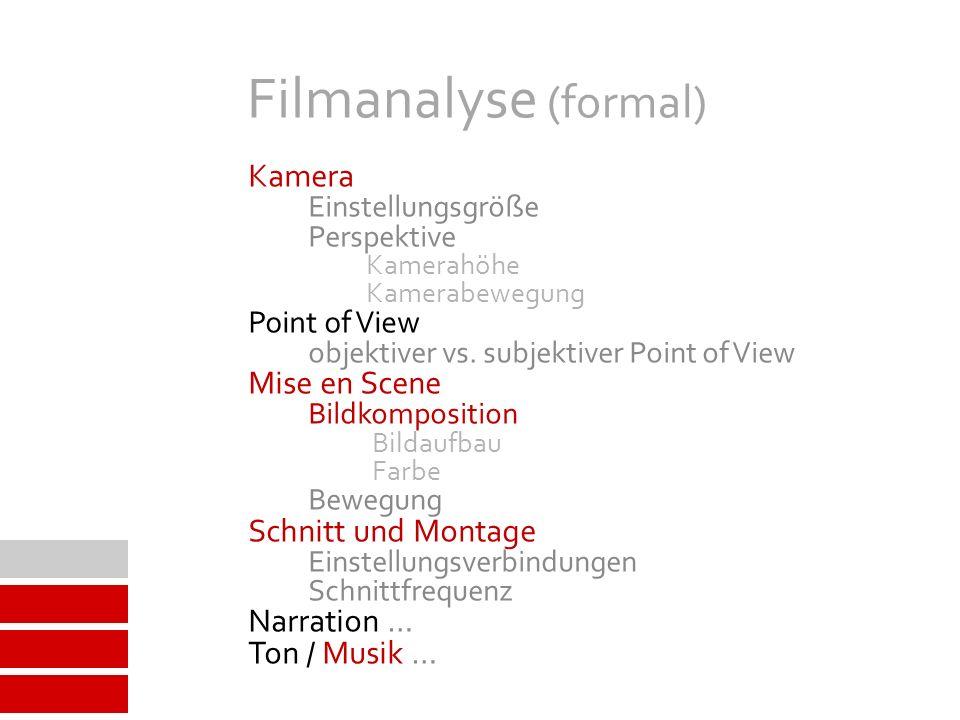 Filmanalyse (formal) Mise en Scene Ton / Musik … Perspektive