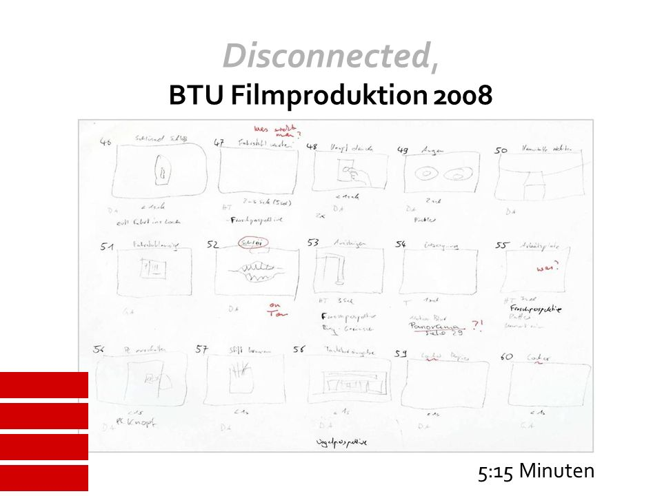 Disconnected, BTU Filmproduktion 2008