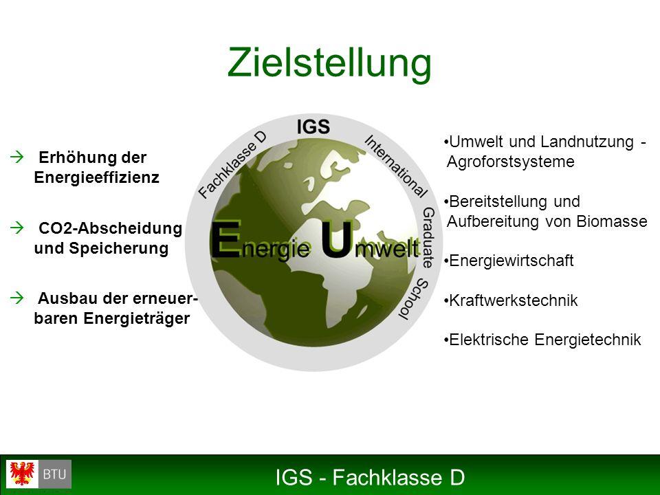 Zielstellung IGS - Fachklasse D Umwelt und Landnutzung -