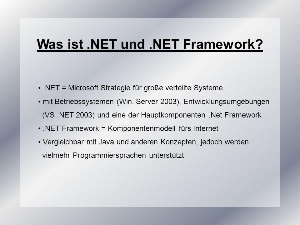 Was ist .NET und .NET Framework