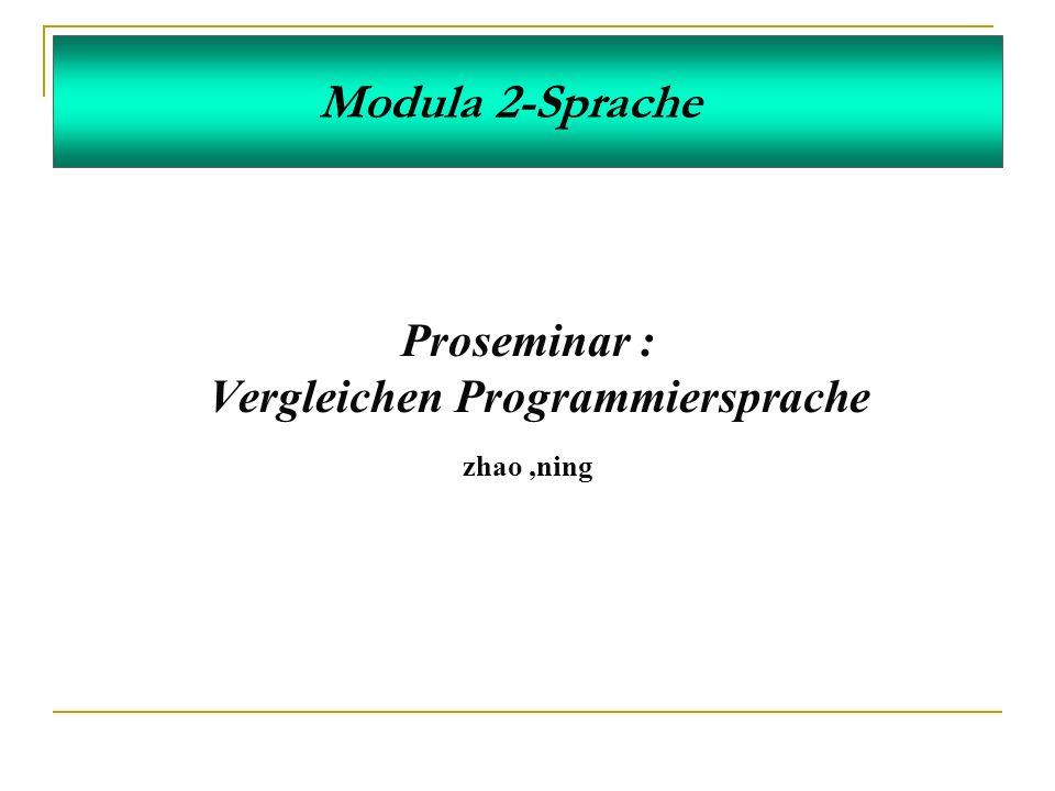 Vergleichen Programmiersprache