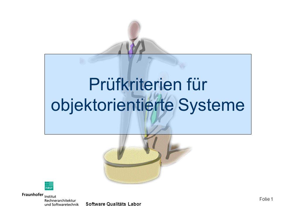 Prüfkriterien für objektorientierte Systeme