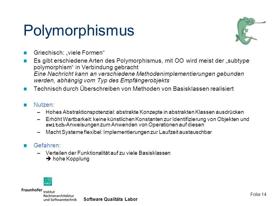 """Polymorphismus Griechisch: """"viele Formen"""