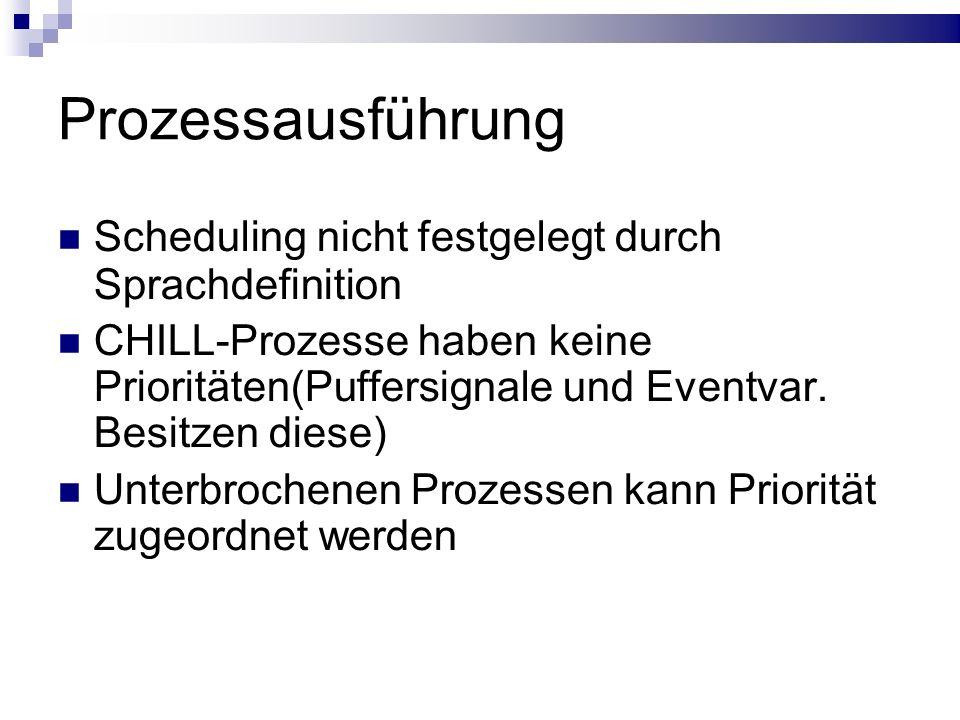 Prozessausführung Scheduling nicht festgelegt durch Sprachdefinition