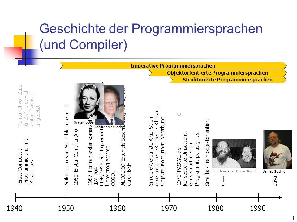 Geschichte der Programmiersprachen (und Compiler)