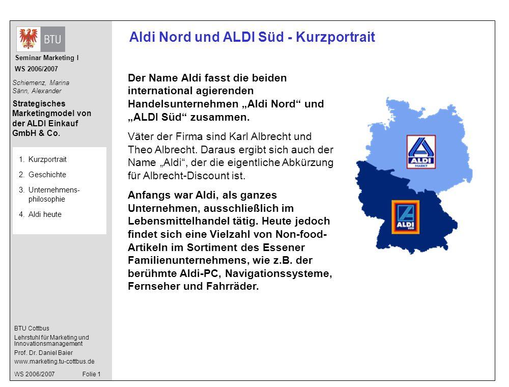 Aldi Nord und ALDI Süd - Kurzportrait