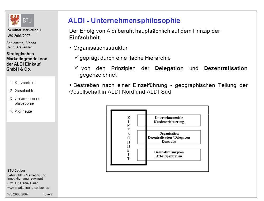 ALDI - Unternehmensphilosophie