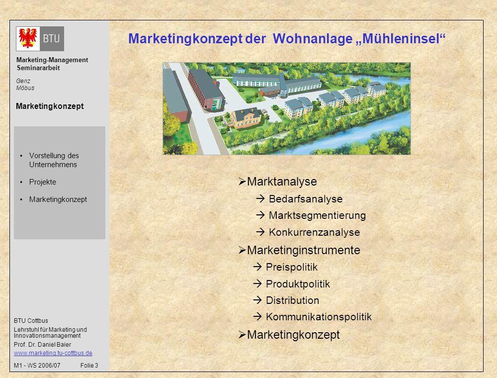 """Marketingkonzept der Wohnanlage """"Mühleninsel"""