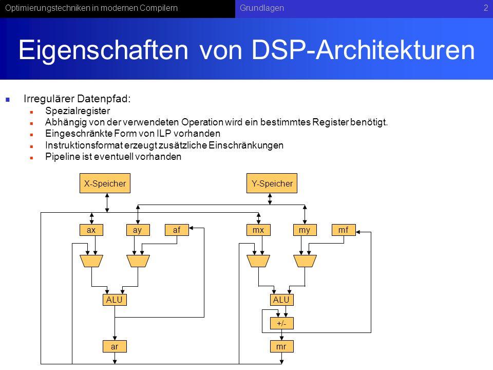 Eigenschaften von DSP-Architekturen
