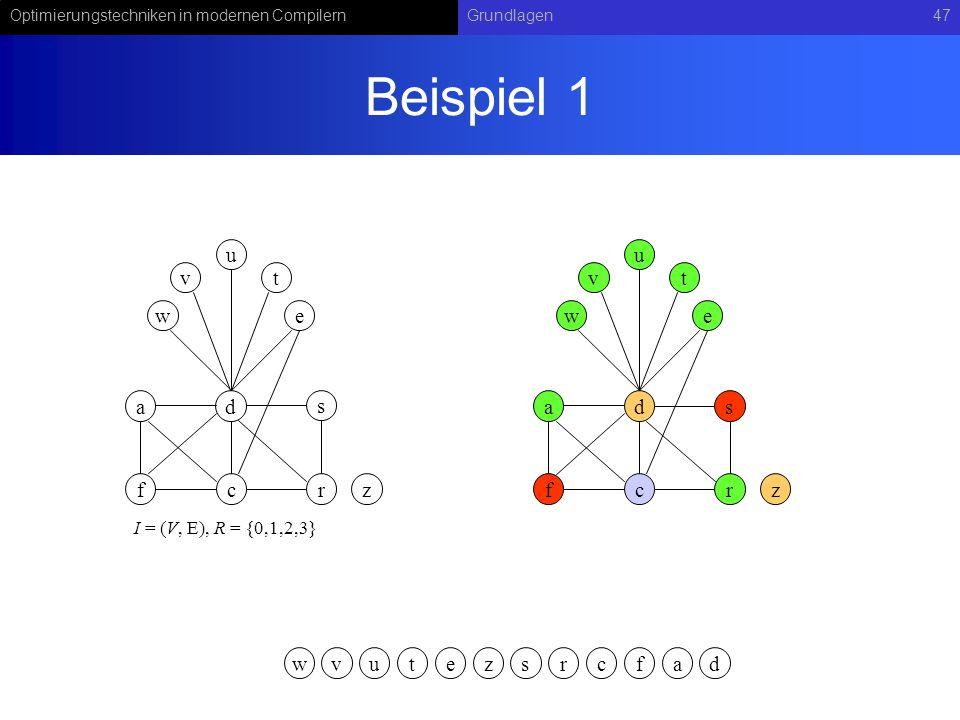 Beispiel 1 u u v t v t w e w e a d s a d s f c r z f c r z w v u t e z