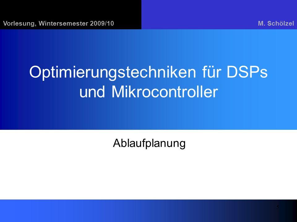 Optimierungstechniken für DSPs und Mikrocontroller