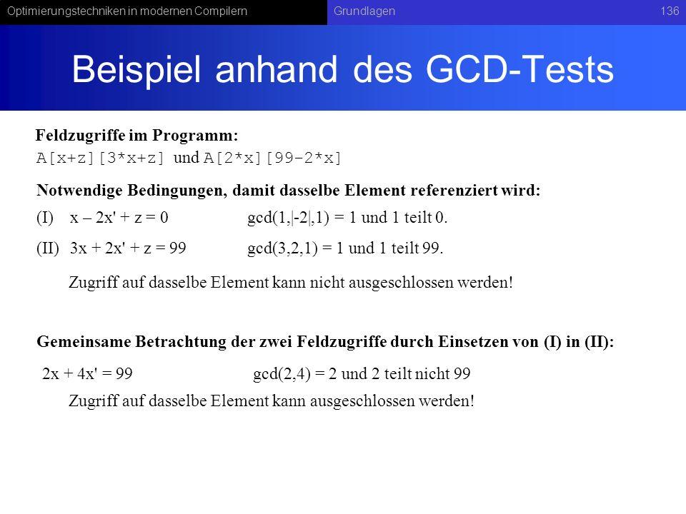 Beispiel anhand des GCD-Tests