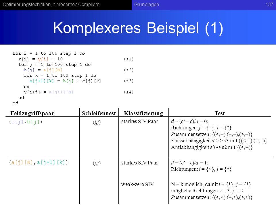 Komplexeres Beispiel (1)