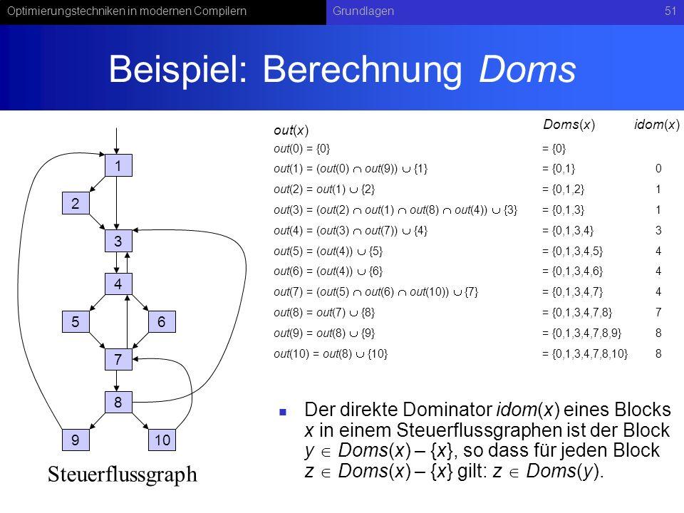 Beispiel: Berechnung Doms